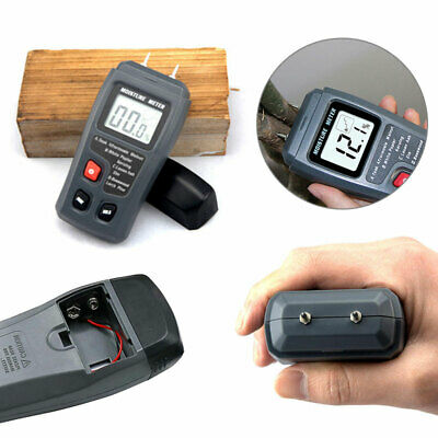 2-Pin Digital LCD Moisture Meter Damp Detector Timber Wood Tester Plaster Sensor • 10.67£