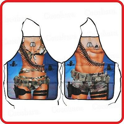 $11.06 • Buy Apron-funny-camouflage Army Military Force Soldier Muscle Man Sexy Woman Lady