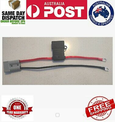 AU20 • Buy Anderson Plug Lead To 8mm Lugs, 10 B&S 60 Amp Fused Cable 250 Mm