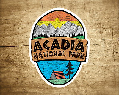$5.29 • Buy Acadia National Park Maine Sticker Decal 3.75  X 2.8  Vinyl New Distressed Campi