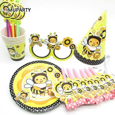 £3.38 • Buy Honey Bee Kids Birthday Party Supplies Tableware Balloons Banners Decorations
