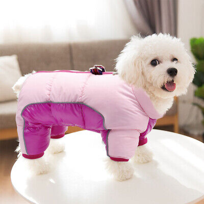 £9.69 • Buy Small Dog Coats For Winter Waterproof Pet Clothes Jumpsuit Reflective Jacket Pug