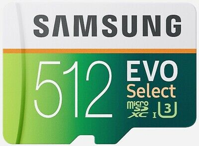 $160 • Buy Samsung 512GB 100MB MicroSD Evo Select Memory Card With Adapter (MB-ME512GA/AM)