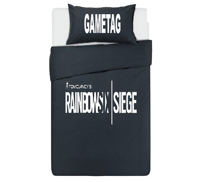 Rainbow Six Siege Personalised Black Duvet Cover/Bedding Set PS4/XBox One Gaming • 34.99£