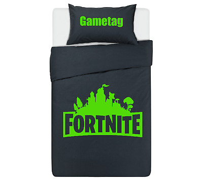 GAMING **Personalised** Black & Green Duvet Cover/Bedding Set PS4/XBox One  • 34.99£