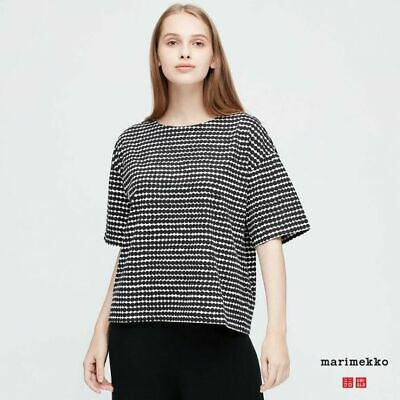 AU39 • Buy Uniqlo X Marimekko Women Short Sleeve T-Shirt Top NWT 426295 Black M