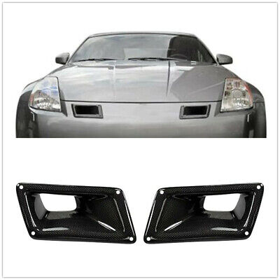 $55.46 • Buy Bumper Carbon Fiber Air Vent Intake Duct Left Right For Nissan 350Z Z33 03-09 A