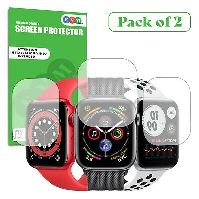 $ CDN6.91 • Buy Screen Protector Cover For Apple Watch Series 1 2 3 4 5 6 SE - Curved Clear TPU