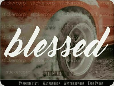 $3.98 • Buy Blessed Car Decal Sticker [ Jdm Euro Drift Slammed Race Vinyl Accent]