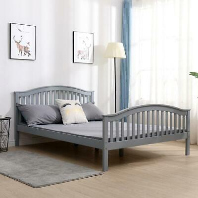 £145 • Buy Madrid Double Grey Wooden Bed 4ft 6 Solid Pine High End Slatted Base