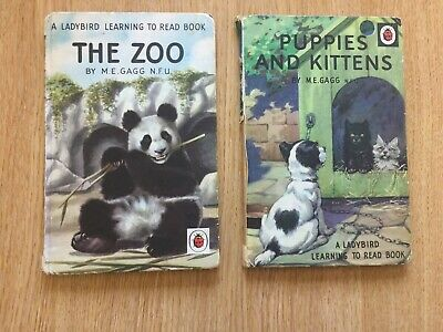Vintage Ladybird Books X 2 - Puppies And Kittens AND The Zoo • 12.99£