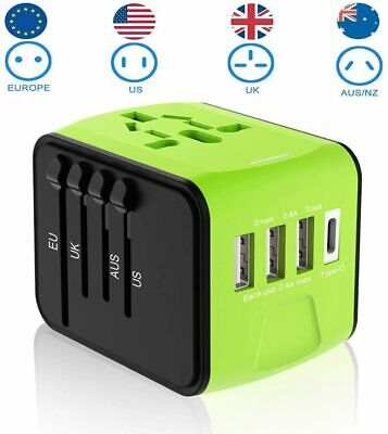 AU39.99 • Buy Universal Travel Adapter,Power Adaptor Worldwide Charger 3 USB And 1 Type-C 3.4A