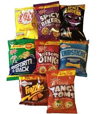 Mixed Crisps Selection Box Spicy Bikers Chipsticks Oinks Frazzles Space Raiders • 14£
