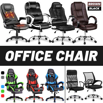 AU119.90 • Buy Gaming Office Chair Racer Executive Adjustment Recline Computer Racing Seating