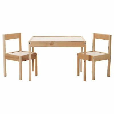 Ikea LATT Children's Table With 2 Chairs Wooden Pine Wood Kids Furniture Set New • 36.39£