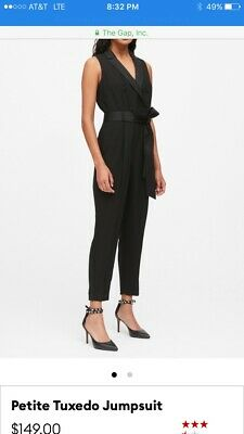 $36.99 • Buy Banana Republic Black Petite Tuxedo Jumpsuit-Size 14P-NWT