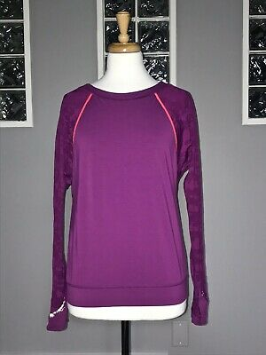 $ CDN54.40 • Buy Lululemon Run For Days Long Sleeve 6 8 Regal Plum Pullover Camo Mesh Euc