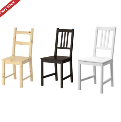 Ikea Ivar & Stefan,Dining Home Office Multi Use Chairs,Solid Wood,3 Colours,New • 39.99£