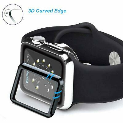 $ CDN2.98 • Buy Fit Apple Watch Series 5/4/3/2/1 Curved Tempered Glass Screen Protector 38~44mm