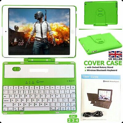 Wireless Bluetooth Keyboard With Swivel Rotary Case Stand For Apple IPad Air 1 2 • 29.84£