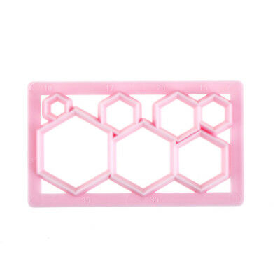 Hexagon Shape Plastic Cookie Cutter Cake Fondant Mold Cake Decorating Tool JC • 3.99£