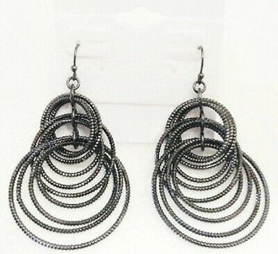 $ CDN9.67 • Buy Lia Sophia Black  Voltage  Hematite Dangle Earrings
