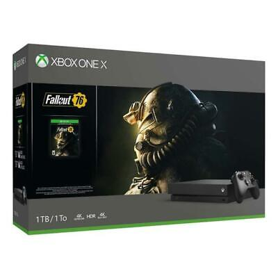 $299 • Buy Xbox One X 1TB 4K Ultra HD Blu-ray Console With Fallout 76 Bundle Open Box