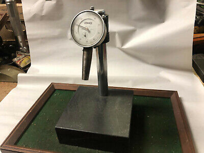 $80.99 • Buy MACHINIST LATHE MILL Granite Comparator Surface Plate & Drop Indicator Gage OfCe