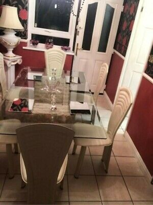 Stone Glass Table And Chairs • 250£