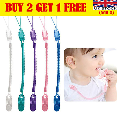 £4.65 • Buy Dummy Clip Baby Soother Clips Teething Baby Teether Chain Holder Pacifier Strap