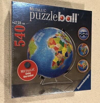 $34.99 • Buy Ravensburger Metallic Earth 540 Pc Puzzle Ball With Stand Globe 3D Jigsaw (NEW)
