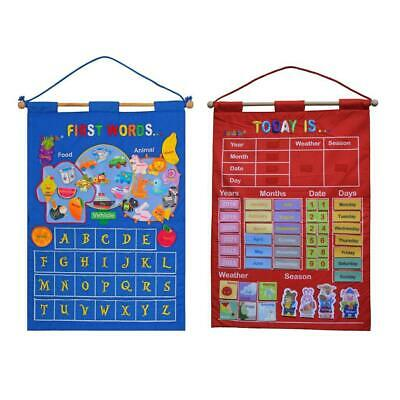 My Calendar Wall Hanging Great For Kids Learning Letter & Days Daily Activity • 15.37£