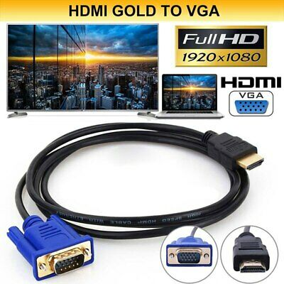 AU4.89 • Buy HDMI Male To VGA Male HD 15Pin 1080P Cable Adapter Monitor Lead Converter Laptop