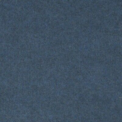 £101.66 • Buy Mid Blue Budget Cord Carpet, Cheap Thin Temporary Flooring, Exhibition, Event