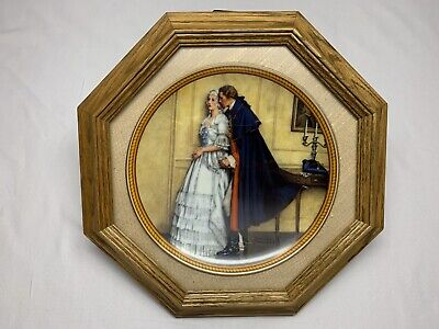 $ CDN20 • Buy Norman Rockwell Collector Plate Frame Framed Unexpected Proposal