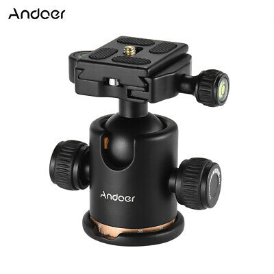 AU30.77 • Buy Andoer Camera Tripod Ball Head Ballhead With Quick Release Plate For DSLR Camera