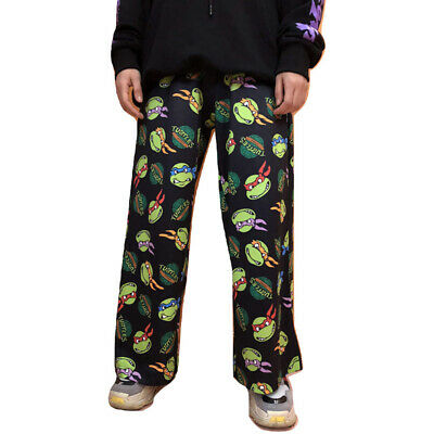 $ CDN28.73 • Buy Kawaii Clothing Ninja Turtles Pants Black Cartoon Harajuku Ulzzang Hip Hop Jazz