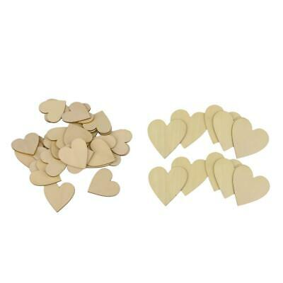 35pcs Wooden Love Hearts Shapes DIY Hanging Heart Plain Crafts Wedding Party • 4.57£
