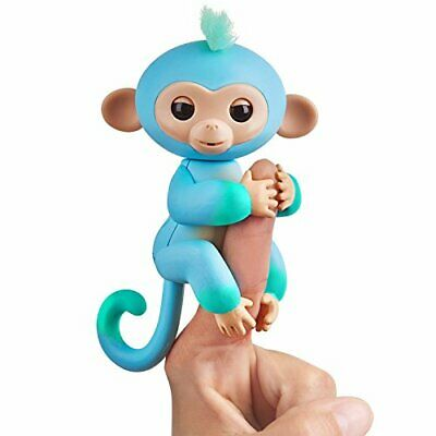 AU20.04 • Buy Fingerlings 2Tone Monkey - Charlie Blue With Green Accents - Interactive Baby