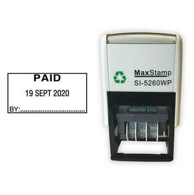 £23.48 • Buy PAID Self Inking Date Stamp - MaxStamp 5260 Date Stamp 41X21mm - Free Postage