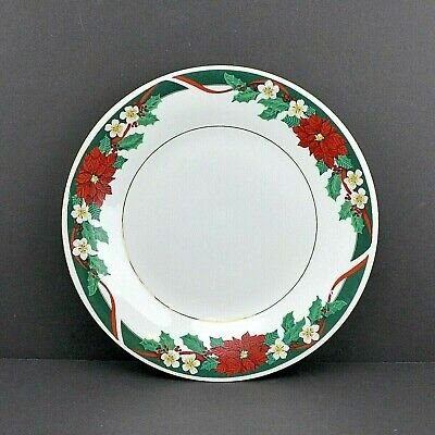 $17.98 • Buy Tienshan Fine China 10 5/8   Deck The Halls Christmas Poinsettia Dinner Plate