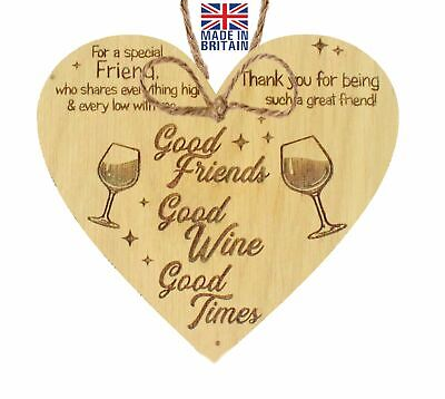 £3.99 • Buy Special Friend Friendship Plaque Shabby Chic Oak Heart Thank You Birthday Gifts