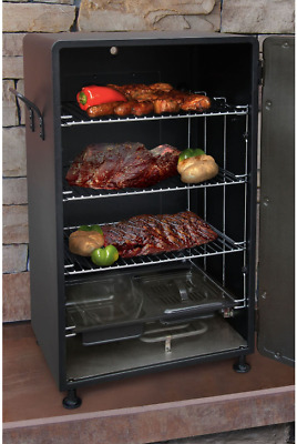 $189.99 • Buy Smoker Grill Barbecue BBQ Outdoor Small Upright Vertical Electric Cooker Black