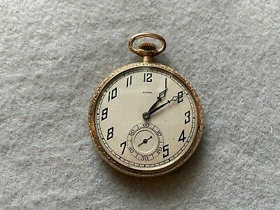 Swiss Made 15 Jewels CYMA Mechanical Wind Up Vintage Pocket Watch • 88.37£