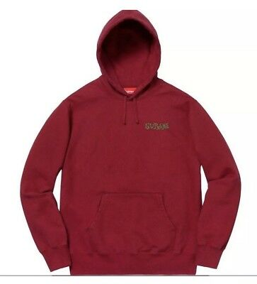 $ CDN264.16 • Buy SS18 Supreme Portrait Hoodie Cardinal Red Mens Medium Authentic Sealed NEW
