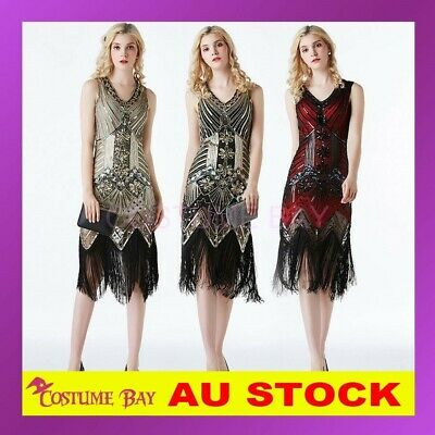 AU29.95 • Buy Deluxe 1920s 20's Charleston Vintage Great Gatsby Flapper Costume Sequin Dress