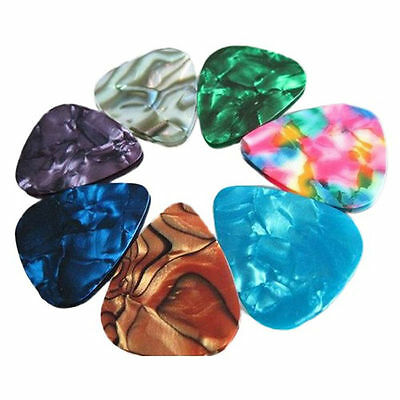 AU2.80 • Buy 10x Multicolor Celluloid Acoustic Electric Guitar Picks Plectrums Thin 0.46mm