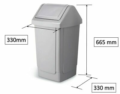 Addis 40 Litre Bin Base And Lid - Grey • 16.50£