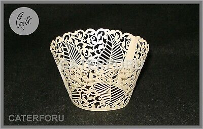 £3.75 • Buy 24 Cupcake Wrappers Leaves Laser Cut Cases Cake Wedding Birthday Party Shower