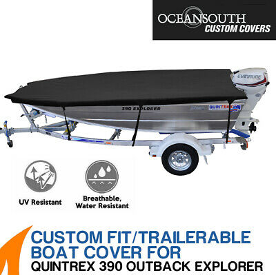 AU169 • Buy Oceansouth Custom Fit Boat Cover For Quintrex 390 Outback Explorer